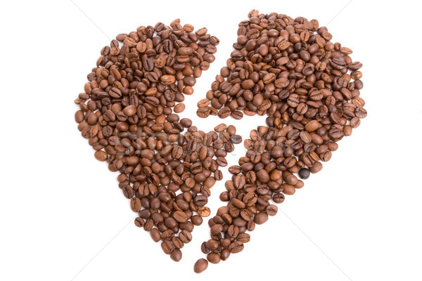 heart made of coffee beans Stock photo © hsfelix