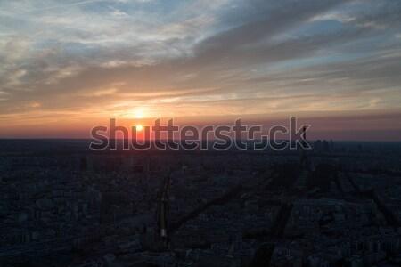 Parigi tramonto bella estate 2016 Francia Foto d'archivio © hsfelix