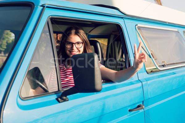 Zomer vakantie weg reis reizen mensen Stockfoto © hsfelix