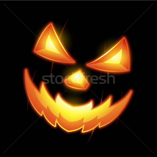 Halloween Jack o lantern smiley face Stock photo © hugolacasse