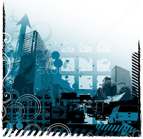 Stockfoto: Grunge · stedelijke · ontwerp · bouw · abstract · verf