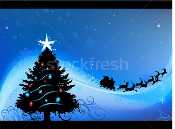 Karácsony üdvözlőlap terv ház fa buli Stock fotó © hugolacasse