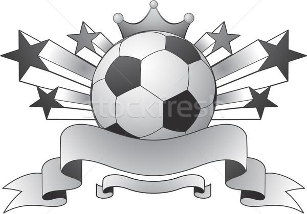 Fußball Emblem Design Raum Team Ball Stock foto © hugolacasse