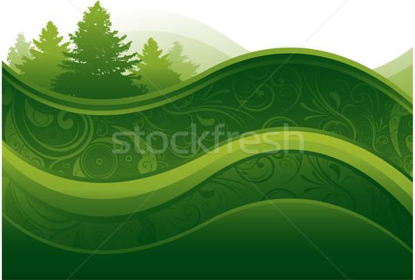 Zdjęcia stock: Zielone · środowiska · kwiatowy · Motyl · liści · lata