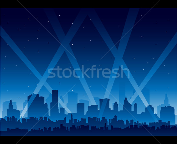 Downtown party city at night background Stock photo © hugolacasse