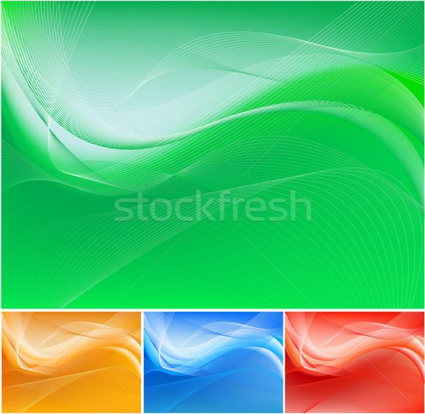 Absztrakt zöld integet festmény energia élet Stock fotó © hugolacasse