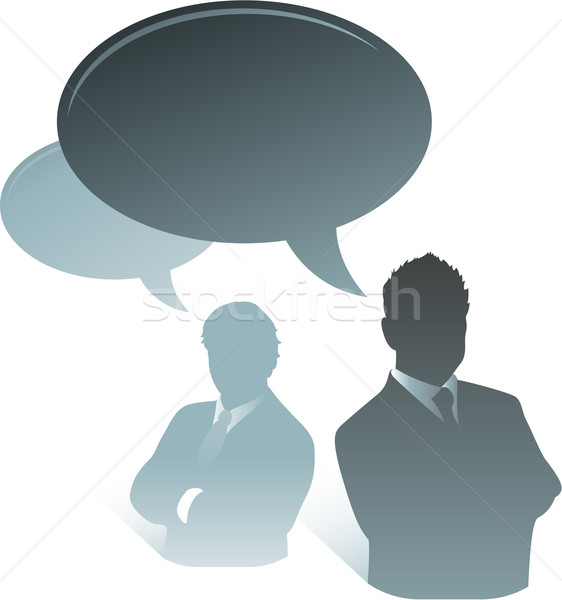 Businessman speech bubble Stock photo © hugolacasse