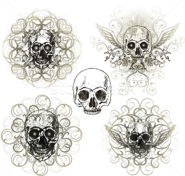 череп дизайна кадр искусства мертвых страхом Сток-фото © hugolacasse