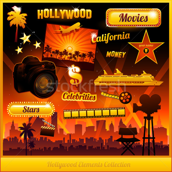 Hollywood cinema movie elements Stock photo © hugolacasse