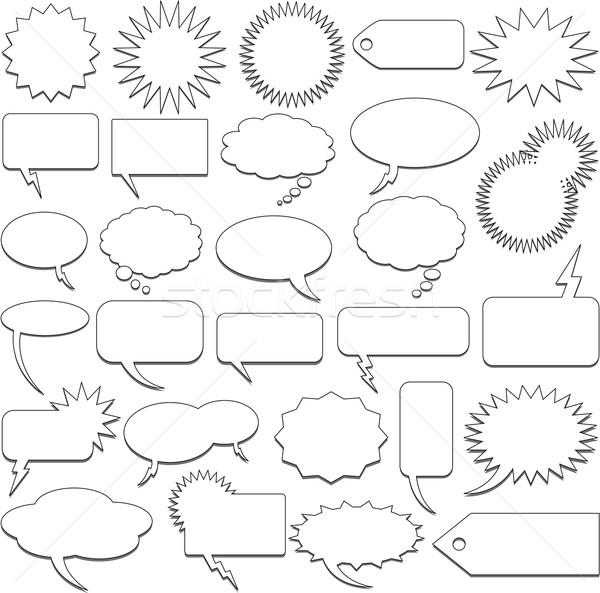comic speech bubbles vector illustration © Hugo Lacasse (hugolacasse ...