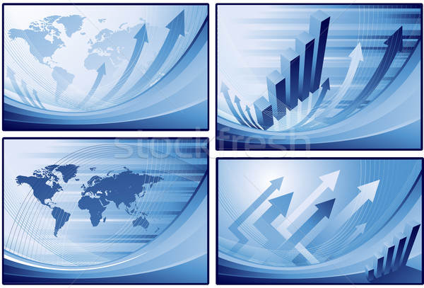 Blue finance business background Stock photo © hugolacasse