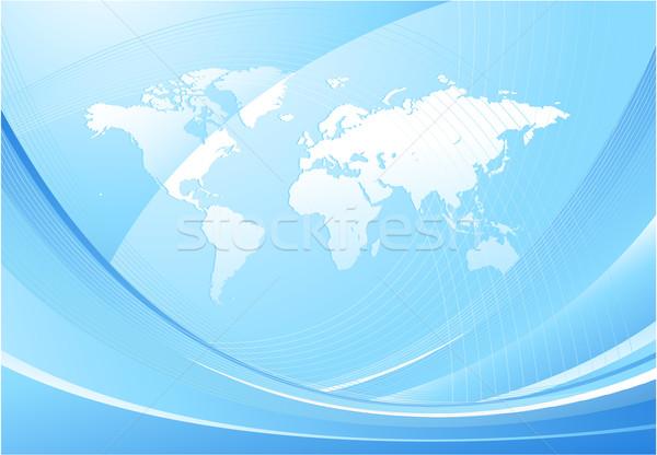 Мир карта дизайна синий интернет карта аннотация Сток-фото © hugolacasse