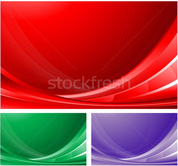 Zdjęcia stock: Czerwony · streszczenie · projektu · przestrzeni · fale · christmas