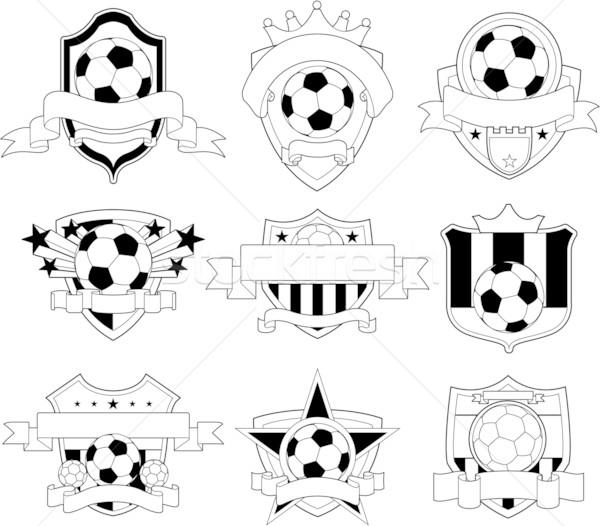 Vecteur football badge emblème design espace Photo stock © hugolacasse