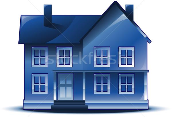 Imóveis casa bandeira construção casa preto Foto stock © hugolacasse