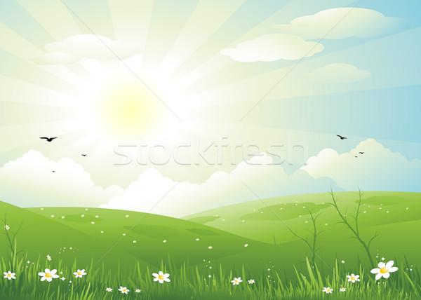 природы пейзаж красивой весны иллюстрация Пасху Сток-фото © hugolacasse