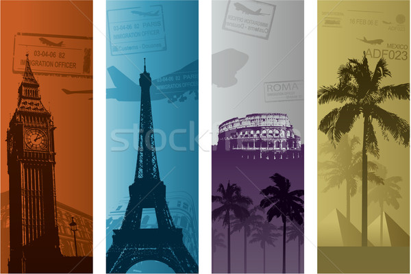 Travel background concept Stock photo © hugolacasse