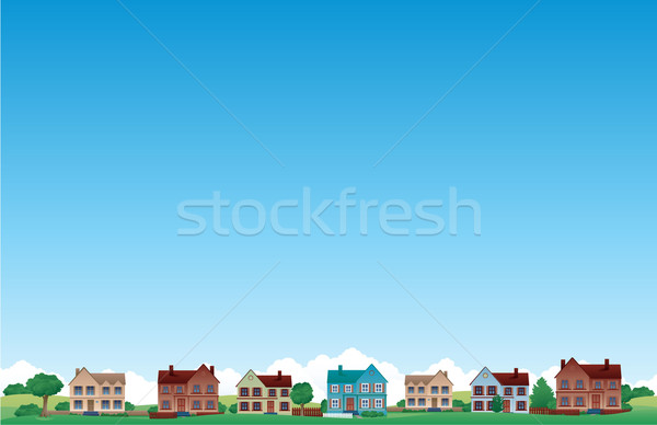 Suburb city background Stock photo © hugolacasse