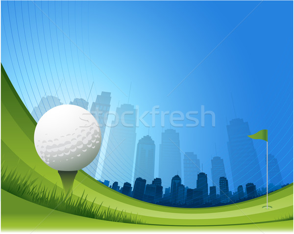 Golf background Stock photo © hugolacasse