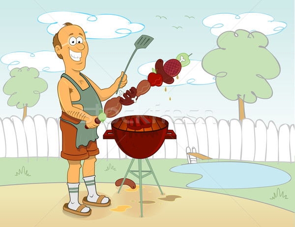 Cook barbecue man Stock photo © hugolacasse