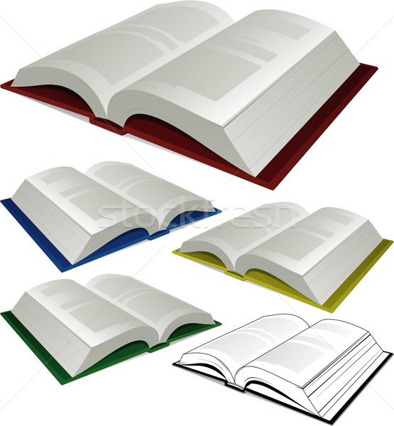 Open boek illustratie kantoor papier boek school Stockfoto © hugolacasse