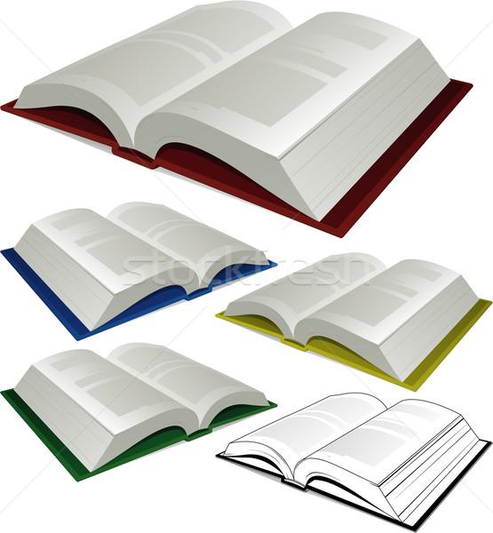 Open book illustration Stock photo © hugolacasse