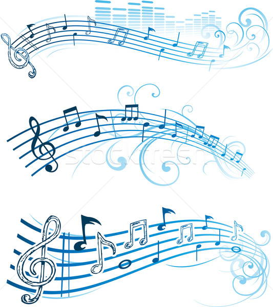 Music notes on staves Stock photo © hugolacasse