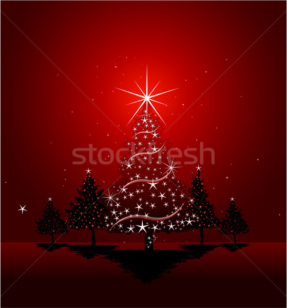 Christmas greeting card design background Stock photo © hugolacasse