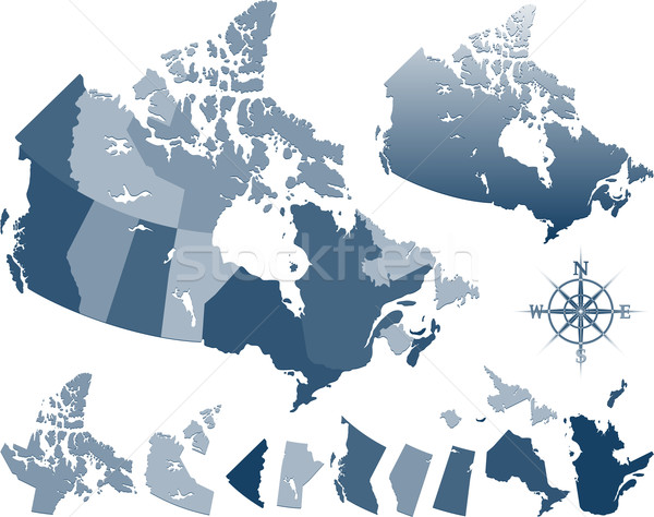 Map of Canada and provinces Stock photo © hugolacasse