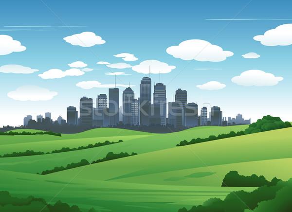 Stock fotó: Városkép · tájkép · külvárosi · természet · ház · út