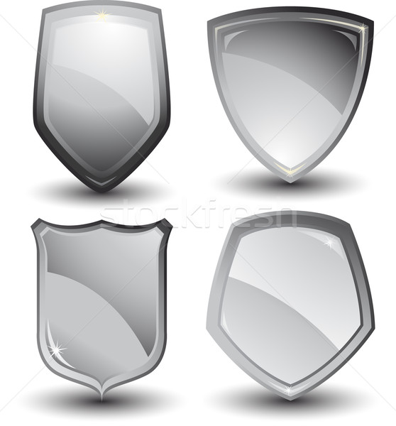Vector silver shields Stock photo © hugolacasse