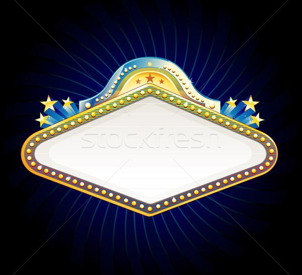 Kasyno podpisania banery świetle film star Zdjęcia stock © hugolacasse