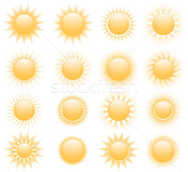 Vetor sol ícones abstrato natureza verão Foto stock © hugolacasse