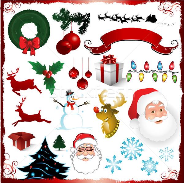 Natale design elementi raccolta set palla Foto d'archivio © hugolacasse