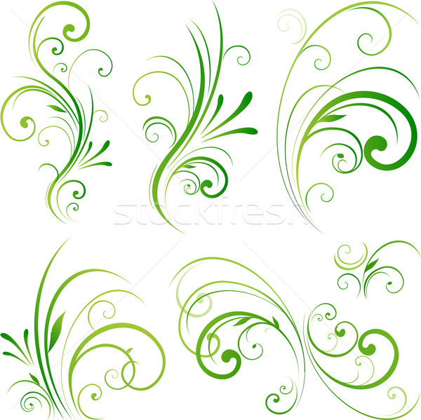 Spring floral decorative swirls Stock photo © hugolacasse