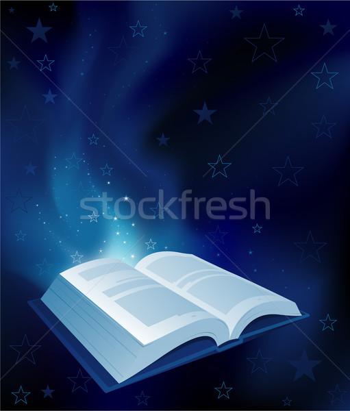Zdjęcia stock: Magic · książki · biuro · malarstwo · czytania · sukces
