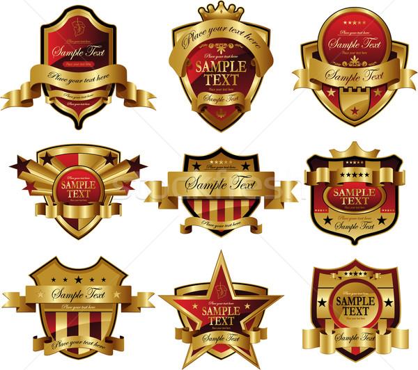 Decorativo ouro quadro etiqueta vinho Foto stock © hugolacasse
