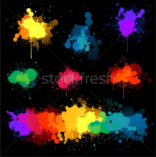 Paint splat illustrations Stock photo © hugolacasse