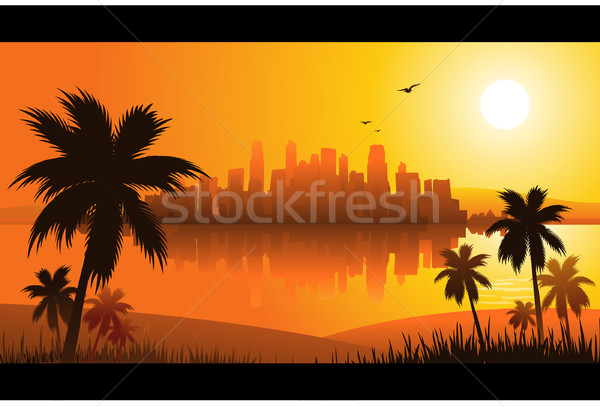Tropical background Stock photo © hugolacasse