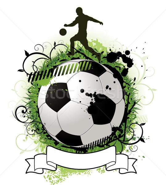 Grunge futball terv fű sport világ Stock fotó © hugolacasse