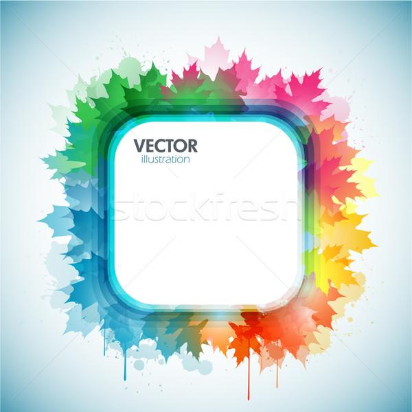 Coloré feuille d'érable nature design art silhouette Photo stock © hugolacasse