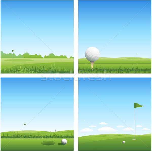 Golfe primavera grama esportes natureza fundo Foto stock © hugolacasse