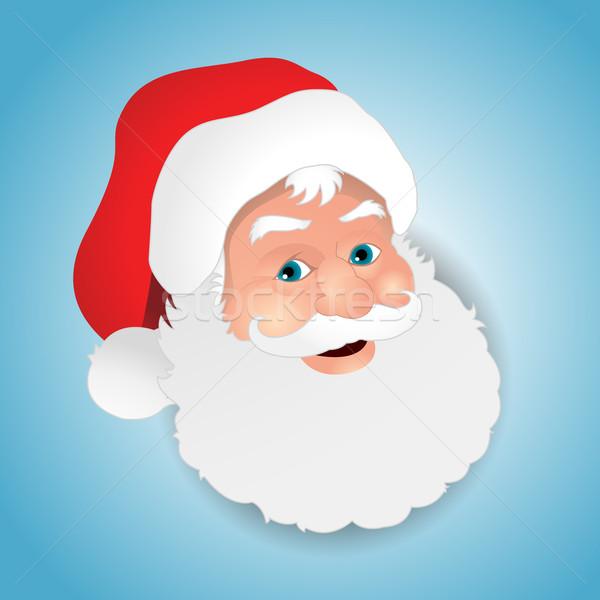 Święty mikołaj twarz projektu mężczyzn christmas Zdjęcia stock © hugolacasse