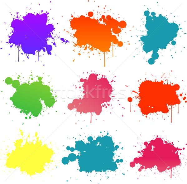 colorful paint splat Stock photo © hugolacasse