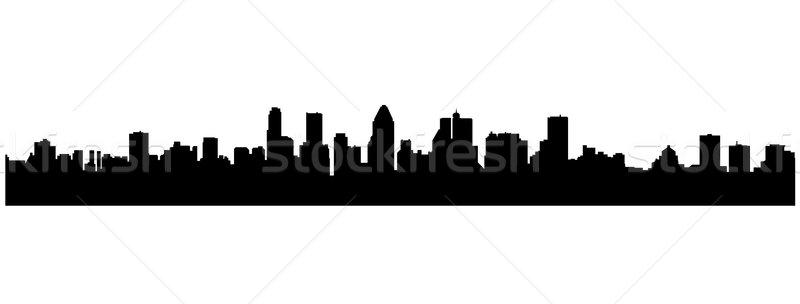 Stockfoto: Stadsgezichten · silhouetten · gebouw · zonsondergang · achtergrond · stedelijke