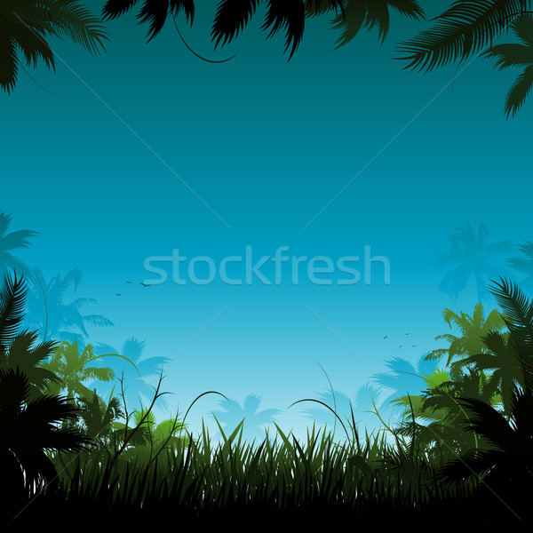 Jungle background Stock photo © hugolacasse