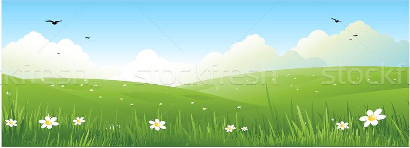 Сток-фото: природы · пейзаж · красивой · весны · иллюстрация · Пасху