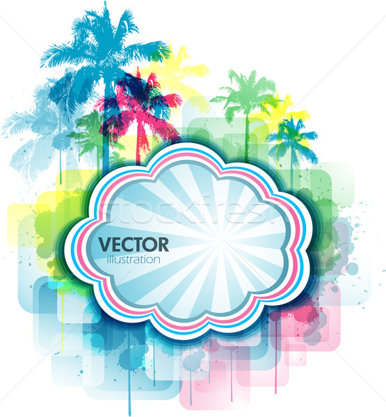 Colorful summer Tropical background Stock photo © hugolacasse