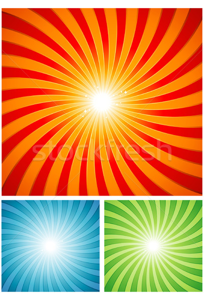 Sunset retro design spiral background Stock photo © hugolacasse