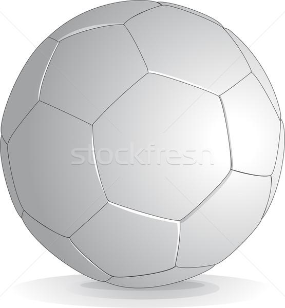 Futebol isolado branco vetor futebol esportes Foto stock © hugolacasse